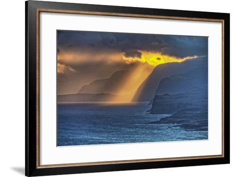 Sunrise Along Highest Sea Cliffs in the World on the North Shore of Molokai Island-Richard Cooke-Framed Art Print