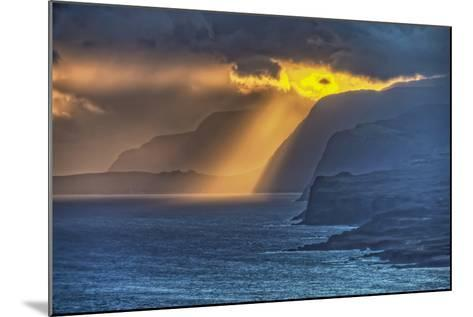 Sunrise Along Highest Sea Cliffs in the World on the North Shore of Molokai Island-Richard Cooke-Mounted Photographic Print