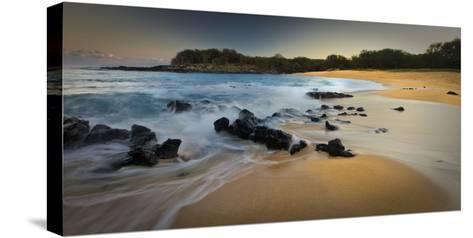 Kaupoa Bay on the West End of Molokai Island-Richard A. Cooke Iii.-Stretched Canvas Print