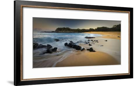 Kaupoa Bay on the West End of Molokai Island-Richard A. Cooke Iii.-Framed Art Print