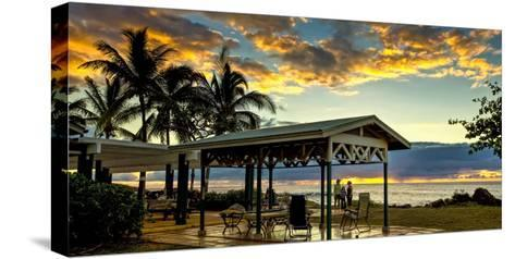 Kaupoa Beach House at the West End of Molokai Island at Sunset-Richard A. Cooke Iii.-Stretched Canvas Print