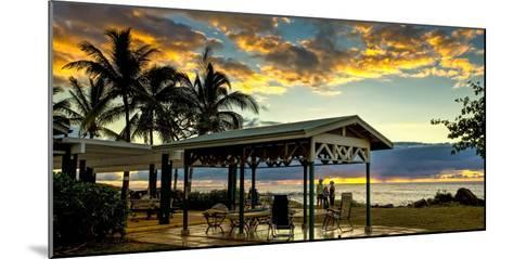 Kaupoa Beach House at the West End of Molokai Island at Sunset-Richard A. Cooke Iii.-Mounted Photographic Print