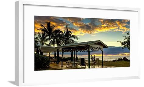 Kaupoa Beach House at the West End of Molokai Island at Sunset-Richard A. Cooke Iii.-Framed Art Print