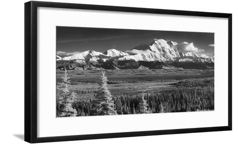 Infrared Panorama of Denali and the Alaska Range Taken from Near the Wonder Lake Campground-Design Pics Inc-Framed Art Print