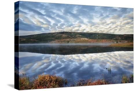 A Pattern of Clouds are Reflected in Wonder Lake in Denali National Park, Alaska-Design Pics Inc-Stretched Canvas Print