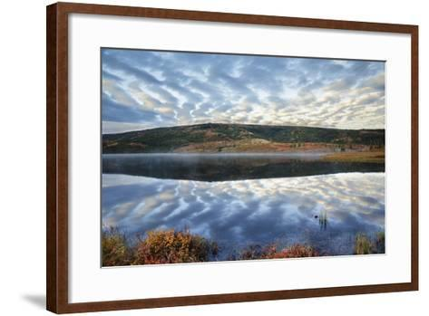 A Pattern of Clouds are Reflected in Wonder Lake in Denali National Park, Alaska-Design Pics Inc-Framed Art Print