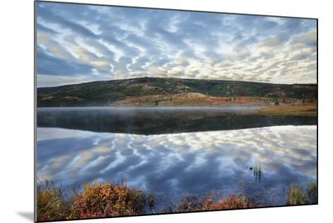 A Pattern of Clouds are Reflected in Wonder Lake in Denali National Park, Alaska-Design Pics Inc-Mounted Photographic Print