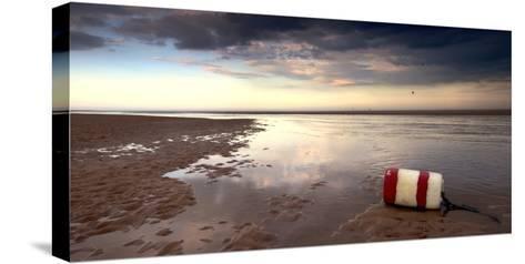Buoy on Seashore; Alnmouth,Northumberland,England-Design Pics Inc-Stretched Canvas Print