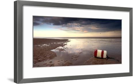Buoy on Seashore; Alnmouth,Northumberland,England-Design Pics Inc-Framed Art Print
