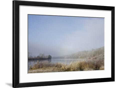 Frost on the Tall Grass Along the Shore of a Lake; Thunder Bay, Ontario, Canada-Design Pics Inc-Framed Art Print