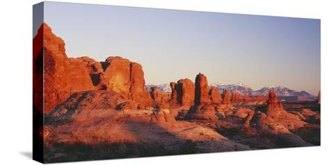 Utah, United States of America; the Garden of Eden Formations at Sunset in Arches National Park-Design Pics Inc-Stretched Canvas Print