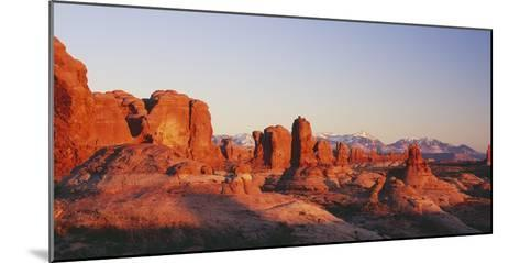 Utah, United States of America; the Garden of Eden Formations at Sunset in Arches National Park-Design Pics Inc-Mounted Photographic Print