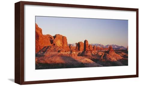Utah, United States of America; the Garden of Eden Formations at Sunset in Arches National Park-Design Pics Inc-Framed Art Print