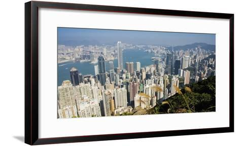 Cityscape with Harbour-Design Pics Inc-Framed Art Print