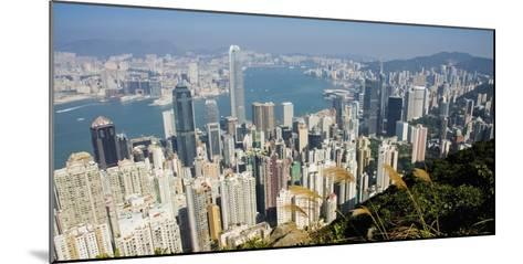 Cityscape with Harbour-Design Pics Inc-Mounted Photographic Print