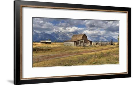 Remote Landscape with Mountains in Background; Mormon Row Historic District-Design Pics Inc-Framed Art Print