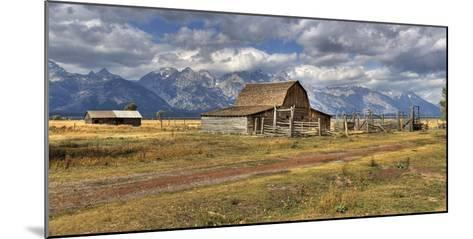 Remote Landscape with Mountains in Background; Mormon Row Historic District-Design Pics Inc-Mounted Photographic Print
