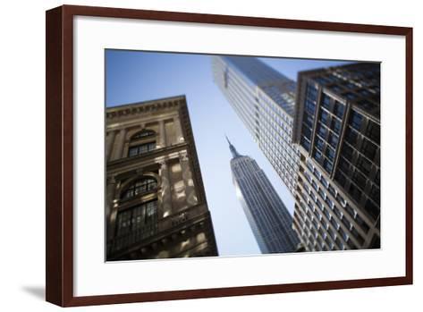Tilt Shift Lens Image - Looking Up at Sykscrapers in Manhattan, New York. USA-Design Pics Inc-Framed Art Print
