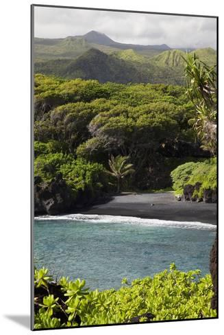 Hawaii, Maui, Hana, the Black Sand Beach of Waianapanapa-Design Pics Inc-Mounted Photographic Print