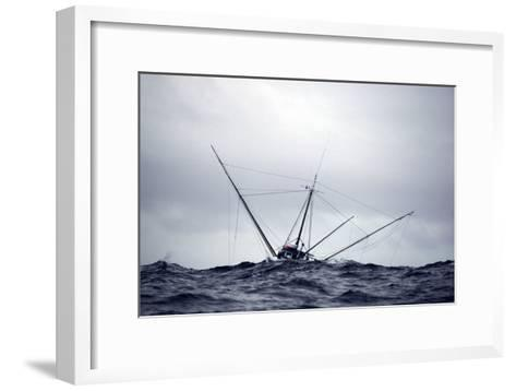 Salmon Troller Fishes in Stormy Seas During Summer in the Gulf of Alaska-Design Pics Inc-Framed Art Print