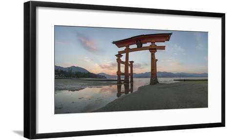 The 'Floating' Torii Gate of the Itsukushima Shinto Shrine, During Rising Tide-Macduff Everton-Framed Art Print