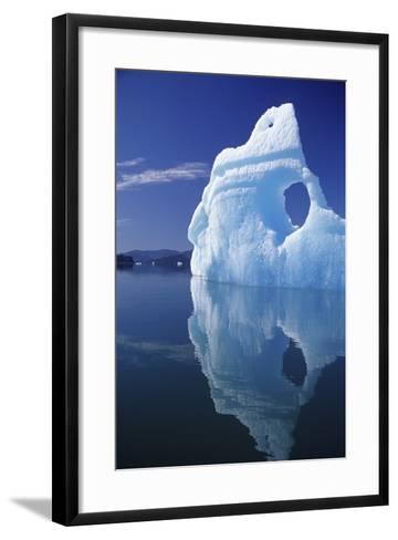 Huge Iceberg with Hole, Leconte Bay, Southeast, Alaska-Design Pics Inc-Framed Art Print