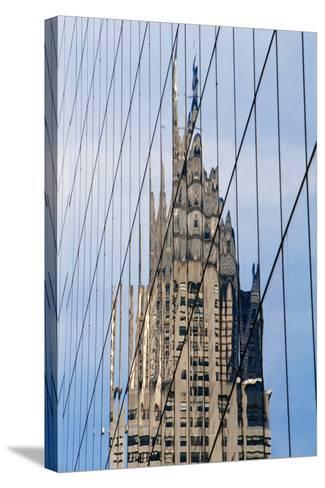 Chrysler Building's Reflection,; Murray Hill, Manhattan, New York, USA-Design Pics Inc-Stretched Canvas Print
