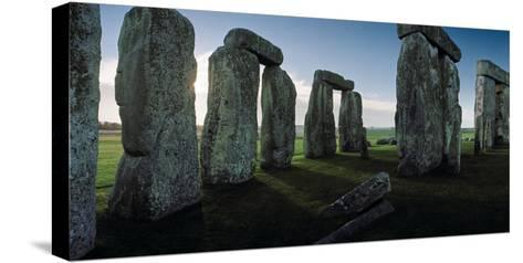 Standing Stones and Lintels of Stonehenge at Sunrise-Macduff Everton-Stretched Canvas Print