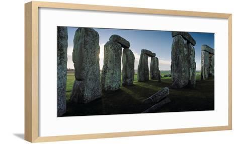 Standing Stones and Lintels of Stonehenge at Sunrise-Macduff Everton-Framed Art Print