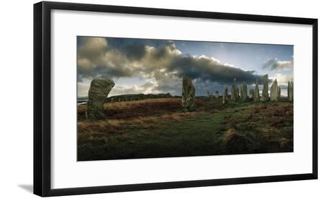 The Callanish Stones, a Megalithic Stone Circle Site-Macduff Everton-Framed Art Print