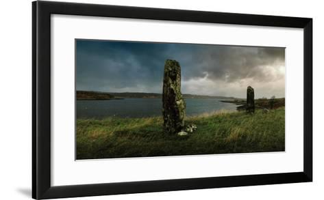 Ancient Standing Stones Along Loch Snizort Beag-Macduff Everton-Framed Art Print