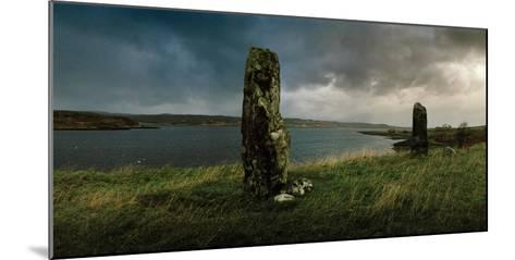Ancient Standing Stones Along Loch Snizort Beag-Macduff Everton-Mounted Photographic Print