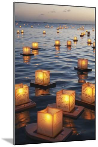Annual Lantern Floating Ceremony During Sunset at Ala Moana; Oahu, Hawaii, United States of America-Design Pics Inc-Mounted Photographic Print