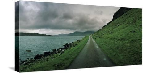 A Single Track Paved Road Along the Edge of Loch Na Keal-Macduff Everton-Stretched Canvas Print