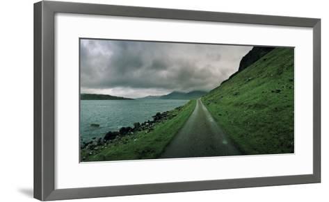 A Single Track Paved Road Along the Edge of Loch Na Keal-Macduff Everton-Framed Art Print