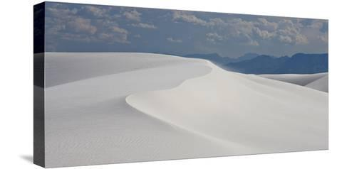Summer Monsoon Clouds over White Dunes in White Sands National Monument-Derek Von Briesen-Stretched Canvas Print