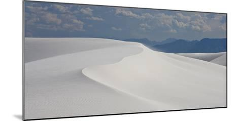 Summer Monsoon Clouds over White Dunes in White Sands National Monument-Derek Von Briesen-Mounted Photographic Print