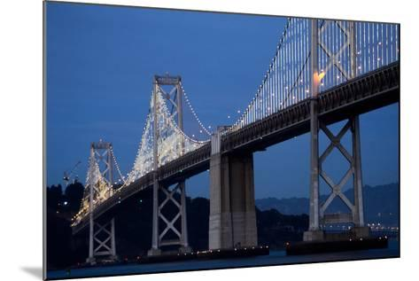 The Bay Lights Iconic Light Sculpture by Artist Leo Villareal on the San Francisco Bay Bridge-James Sugar-Mounted Photographic Print