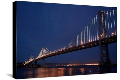 The Bay Lights Iconic Light Sculpture by Artist Leo Villareal on the San Francisco Bay Bridge-James Sugar-Stretched Canvas Print