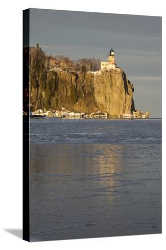 Split Rock Lighthouse on Lake Superior in Winter; Minnesota, USA-Design Pics Inc-Stretched Canvas Print