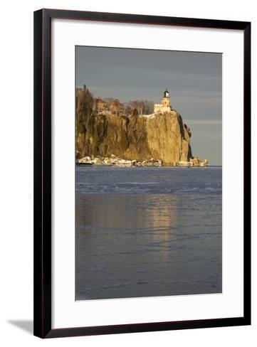Split Rock Lighthouse on Lake Superior in Winter; Minnesota, USA-Design Pics Inc-Framed Art Print
