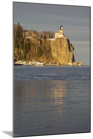 Split Rock Lighthouse on Lake Superior in Winter; Minnesota, USA-Design Pics Inc-Mounted Photographic Print