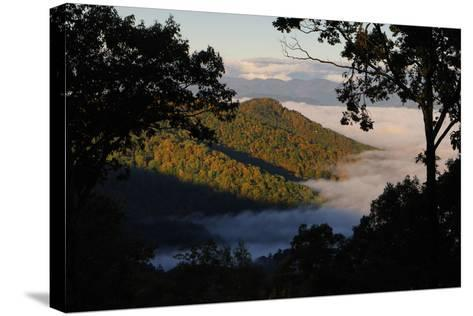 Clouds Fill the Valley Below in the Morning-Amy White and Al Petteway-Stretched Canvas Print