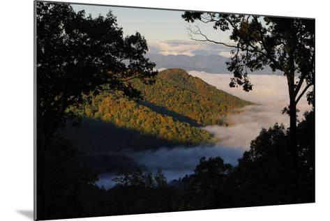 Clouds Fill the Valley Below in the Morning-Amy White and Al Petteway-Mounted Photographic Print