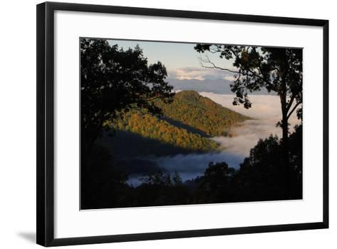 Clouds Fill the Valley Below in the Morning-Amy White and Al Petteway-Framed Art Print