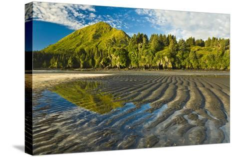 Scenic View of Tidal Flats at Low Tide at the Mouth of Monashka Creek on Kodiak Island, Alaska-Design Pics Inc-Stretched Canvas Print