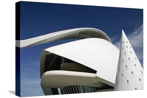 Palau De Les Arts Reina Sofia Building by Santiago Calatrava-Design Pics Inc-Stretched Canvas Print