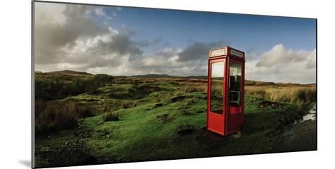 A Telephone Booth Standing Alone on a Remote Moor-Macduff Everton-Mounted Photographic Print