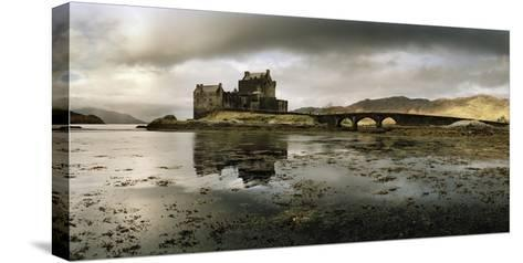 Eilean Donan Castle, Built on a Rocky Promontory at the Meeting Point of Three Sea Lochs-Macduff Everton-Stretched Canvas Print