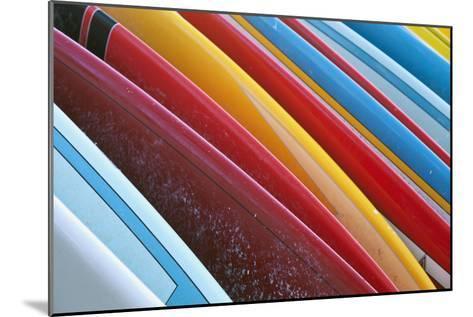 Close Up of Coloured Surfboards Lined Up; Honolulu, Oahu, Hawaii, United States of America-Design Pics Inc-Mounted Photographic Print